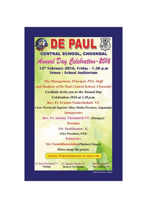 DePaul Central School-Annual Day Celebration